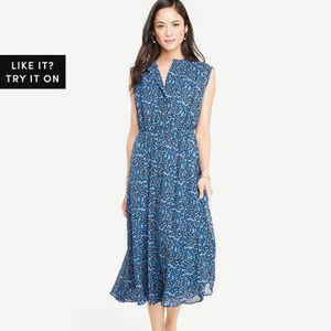 Ann Taylor Button Down Midi Shirtdress $159 NWT